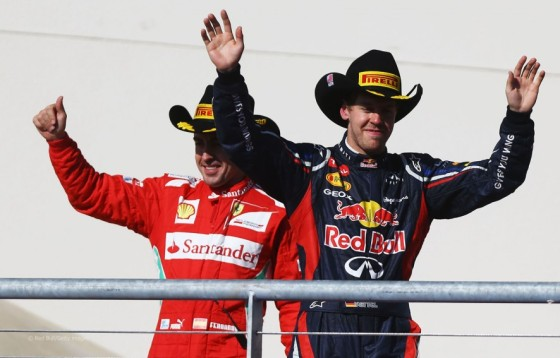 The title race continues… Vettel and Alonso on podium after a tough race in Austin