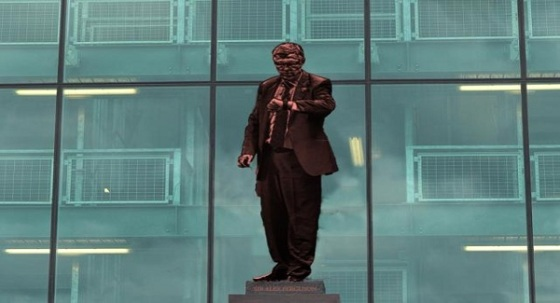 """Fergie time"" - One of the possible poses for the Peter Jackson statue that Manchester have announced recently"