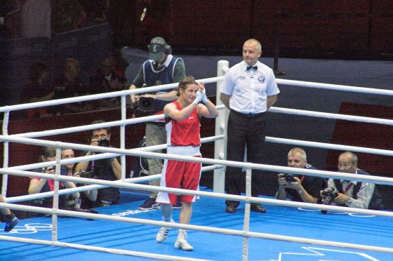Katie Taylor wins at the 2012 Olympics