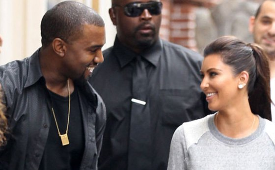 The expecting couple: Kanye West and Kim Kardashian
