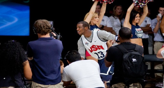 LA Clippers Chris Paul in action for Team USA in 2012