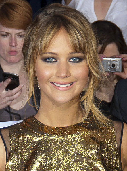 Jennifer Lawrence, star of The Hunger Games (via Wikimedia Commons)