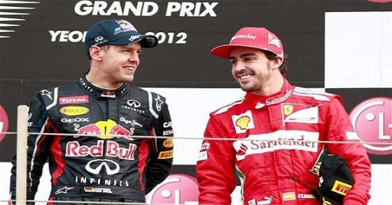 Vettel and Alonso battled it out for the drivers championship in 2012 with Vettel coming out on top