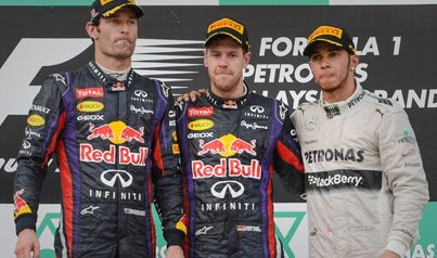 The tension could've been cut with a knife on the podium in yesterday's grand prix