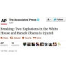 AP Twitter suspended over false White House explosion tweet