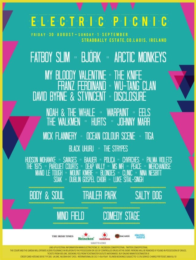 Electric Picnic 2013 line-up